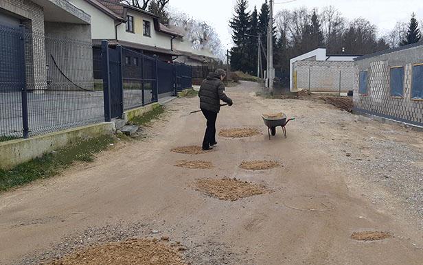 Bendrijos kelių būklė po žiemos
