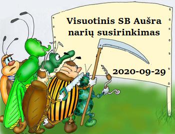 """Skelbiamas visuotinis SB """"Aušra"""" narių susirinkimas"""