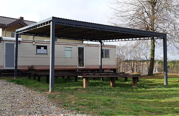 Bendruomenės terasos statyba baigta