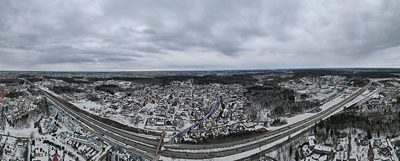 Bendrijos teritorijos 3D vaizdas nuo Geležinio Vilko gatvės